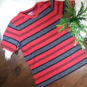 EUC Hawk Stripped Short Sleeve Shirt